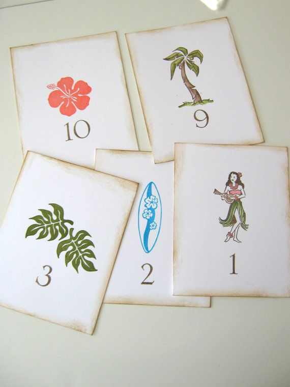 Tropical Hawaii Wedding Table #