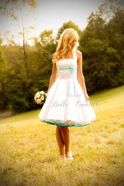 """Petticoat Brautkleid """"Véro"""" von Atelier Belle Couture 50er Jahre Petticoatkleider Rockabilly Kleider auf DaWanda.com"""