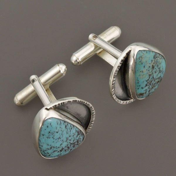 Cuff Links, turquoise cufflinks, handmade cufflinks,silver cufllinks,turquoise,blue turquoise,turquoise jewelry,mens jewelry, by TaktuMartaKepska on Etsy
