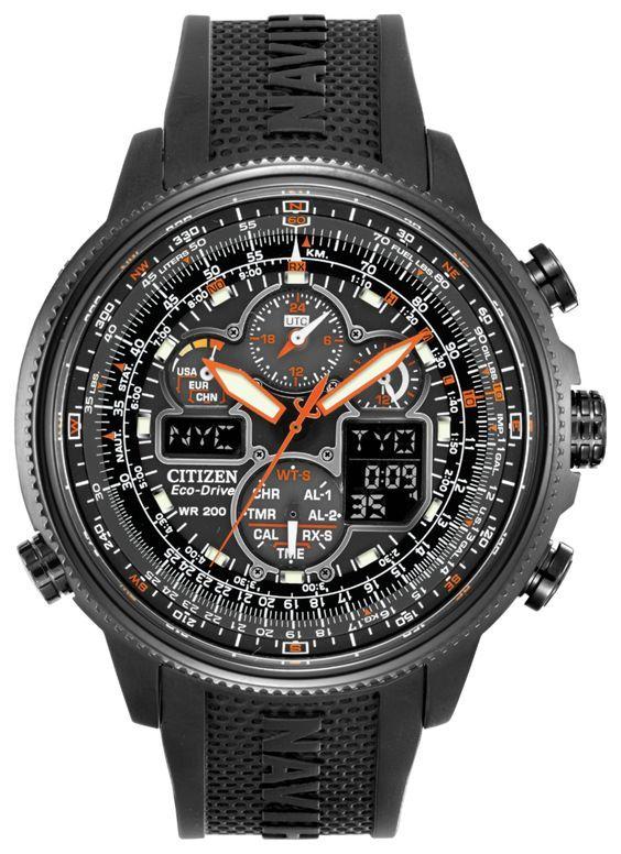 39ebde085d7 JY8035-04E Citizen Men s Eco-Drive Navihawk Atomic Timekeeping Watch ...