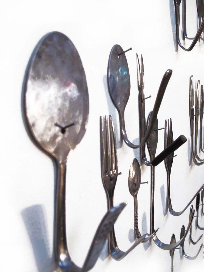 Hooks Made From Upcycled Cutlery Upcycled Cutlery Diy