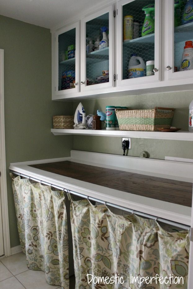 Laundry room updated for $200...you have to see the before picture! Lots of great budget-friendly ideas!