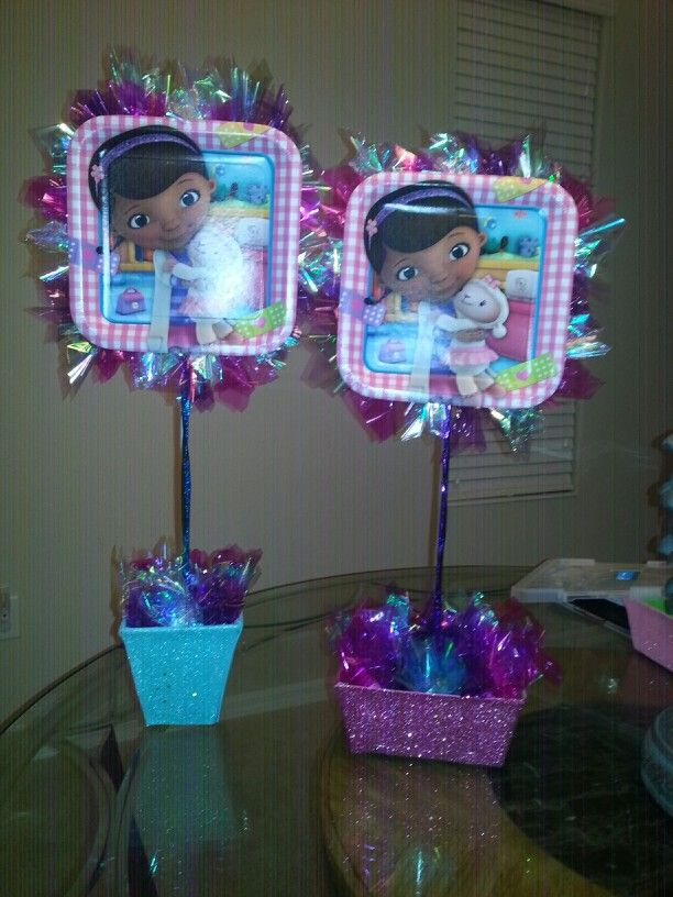 Doc mcstuffins centerpiece | decorations ideas | Pinterest ...