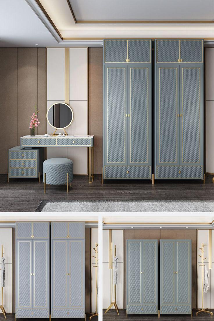 Grey modern wardrobe design bedrooms cupboards in 2020 ...