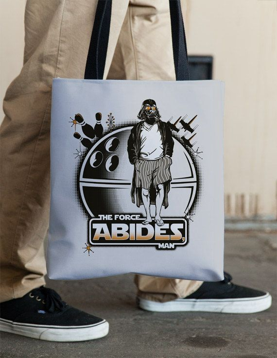 Star Wars Darth Vader and The Big Lebowski Tote by Vincent Carrozza