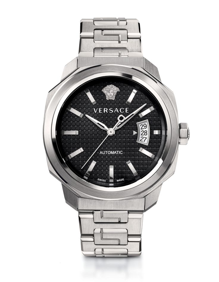The Versace Dylos Automatic is unmistakably elegant  - a symbol of the Versace man's striking sophistication.