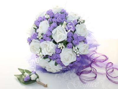 Pudra Pembe Gelin Çiçeği Buketi, sarı gelin çiçeği, kırmızı gelin çiçeği ve daha birçok renkte gelin çiçekleri ve gelin buketleri, İncili Ekru Mor Gelin Çiçeği Buketi, mor gelin çiçeği, mor çiçekli gelin buketi