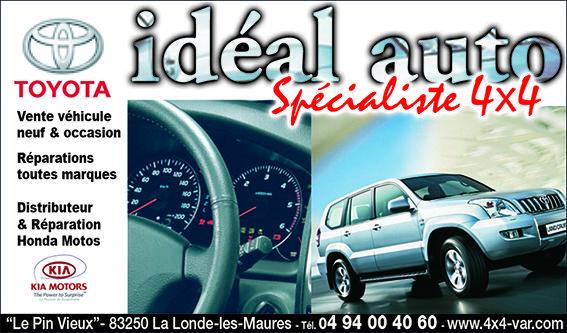 GARAGE IDEAL AUTO TOYOTA KIA - LA LONDE LES MAURES Vente de véhicule neuf et occasions, réparation toute marques, distributeur & réparation kia, toyota