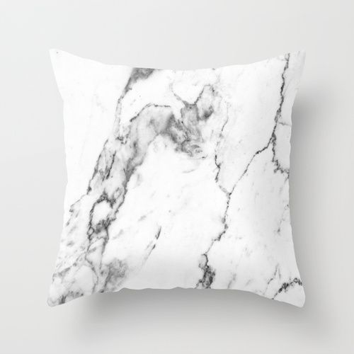white marble i throw pillow - White Decorative Pillows