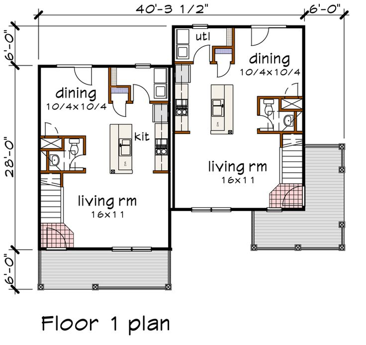 17 best images about multi family plans on pinterest for Multi family house plans