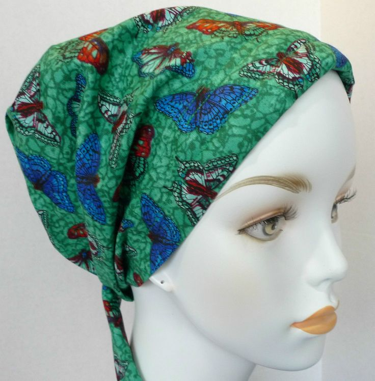 16.95$  Watch now - http://vivgk.justgood.pw/vig/item.php?t=fjbc5025137 - Colorful Butterfly Chemo Cancer Hat Alopecia Hair loss Scarves Turban Headwrap 16.95$