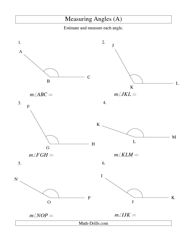 new 2013 01 21 measuring angles between 90 and 175 a new math worksheet announcements. Black Bedroom Furniture Sets. Home Design Ideas