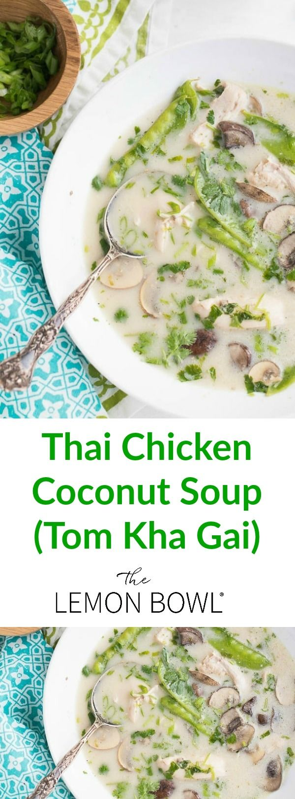 Skip the takeout menu and make this fresh and fragrant slow cooker Thai chicken coconut soup (tom kha gai) at home!