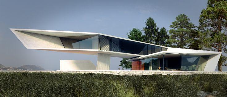 modern house on the water - Google Search
