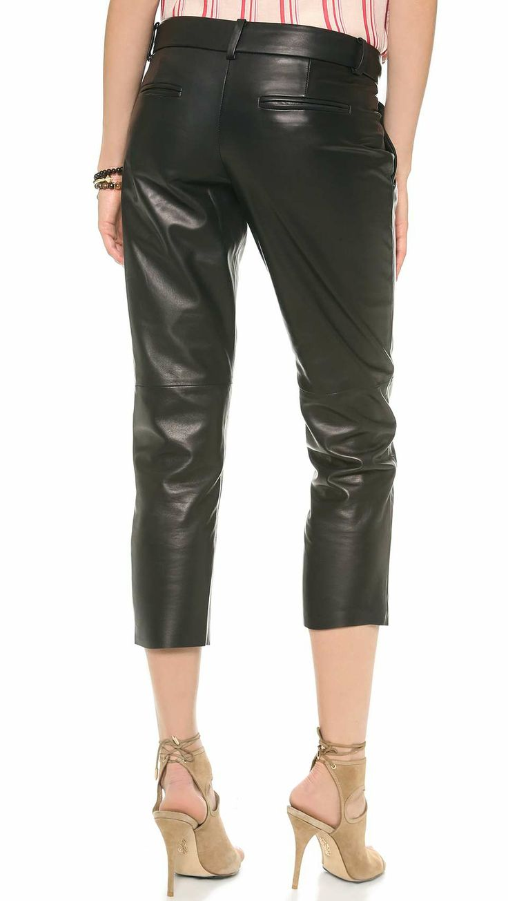 285 curated Leather Pleated Pants - Leather Baggy Pants ideas by ...