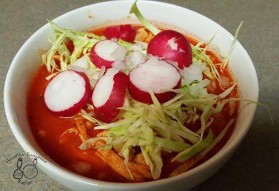Red Chicken Posole | Posole Rojo de pollo ~ Gordita Supreme Recipes