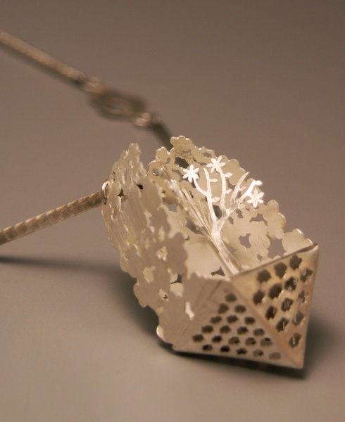 Thetree on the cloud-necklace,sterling silver   youngjoo yoo