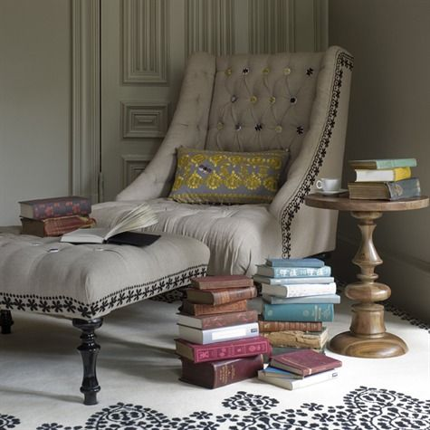 Old books and a comfy chair.: Reading Area, Cozy Corner, Reading Corner, Reading Nooks, Reading Chairs, Places, Books Nooks, Comfy Chairs, Reading Spots