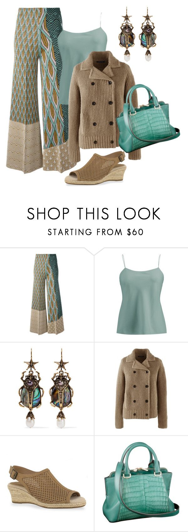 """Brown & Teal"" by farradaymg ❤ liked on Polyvore featuring Circus Hotel, Ralph Lauren Collection, Alexander McQueen, Lands' End, Easy Street and Cartier"