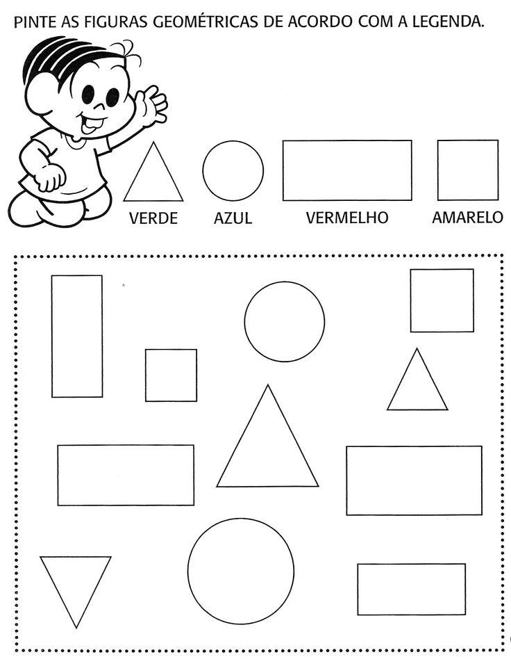 ... com a Turma da Mônica       Selecionei algumas atividades envolvendo as formas geométricas com a Turma da Mônica (que eu AMO ).     Est...