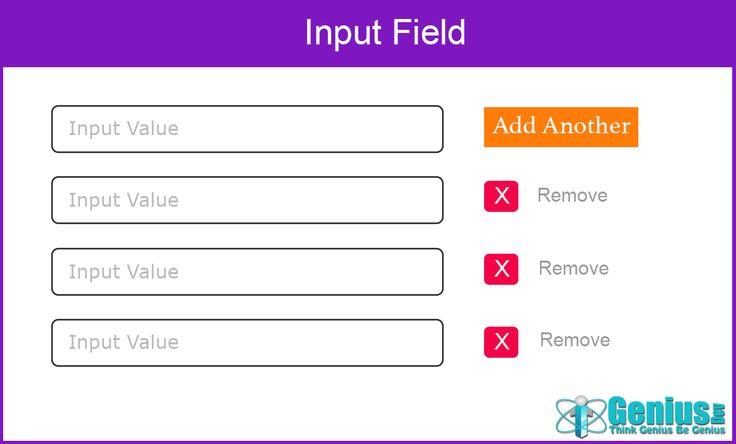 Add/Remove Input Fields Dynamically with jQuery #jquery #InputField #html #add #remove #igeniusdev