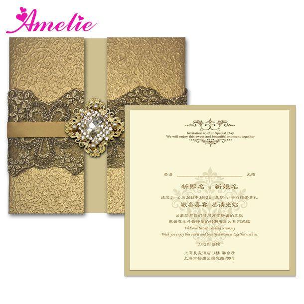 Fedex / DHL черное кружево свадебные винтаж свадебные приглашения роскошные индивидуальные золото свадьба карты приглашение на свадьбу с бесплатная доставка(China (Mainland))