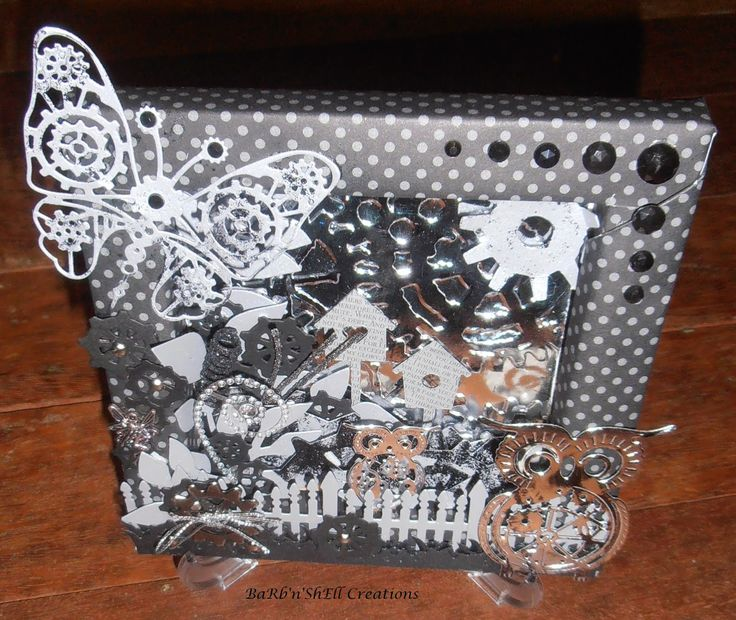 BaRb'n'ShEllcreations  - Steampunk Garden - reverse canvas - made by Shell