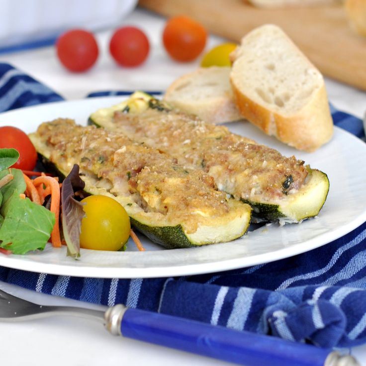 Stuffed Zucchini by Cooking with Manuela