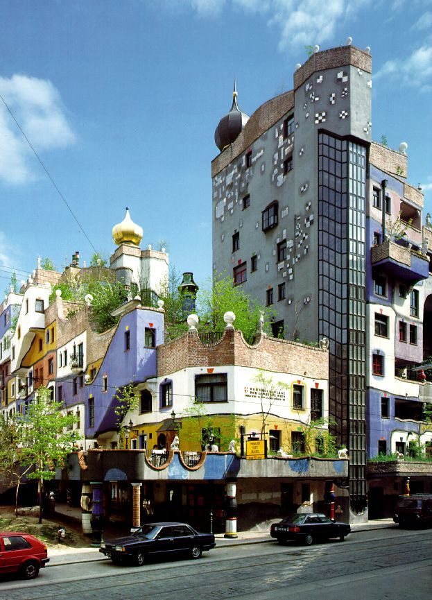 Hundertwasser House (Hundertwasserhaus) is an apartment building in Vienna designed by the famous Austrian artist Friedensreich Hundertwasser. The house was built by a  request of the city of Vienna and is now one of the most visited landmarks in Austria.