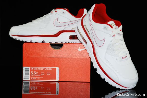 Nike Air Max Wright LTD (GS) - White / White - Varsity Red -Khaki