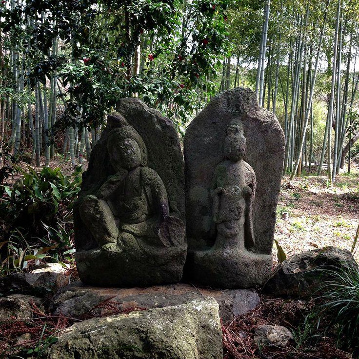 SEKIBUTSU  stone Buddhist image.  石仏