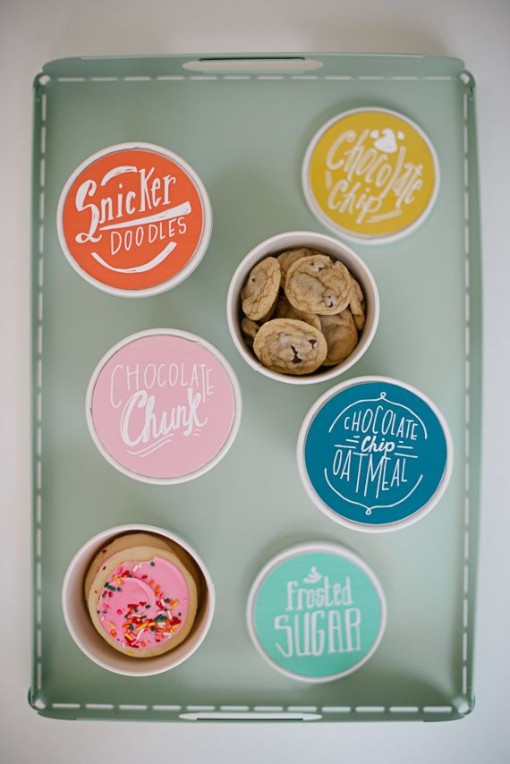 tubs of cookies - free label download