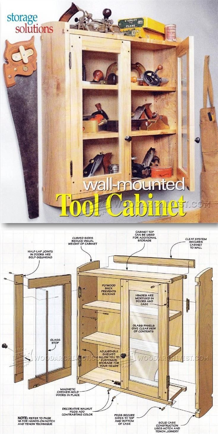 wall tool cabinet plans workshop solutions plans tips and tricks - Tool Cabinets