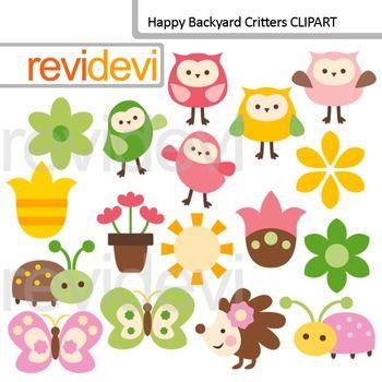 clip art happy backyard critters  owls  butterflies owl clip art template owls clip art free