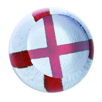 Caithness Glass English Cross Of St George Flag Paperweight New Boxed U17040