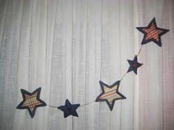 Estrellas de tela vaquera para decorar en navidad