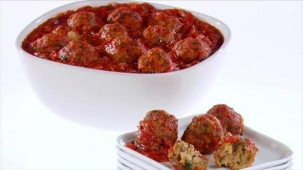 Giada pairs her Italian Turkey Meatballs with a savory tomato-basil sauce.