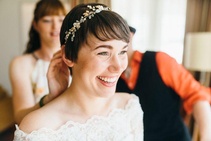 ...  Brautfrisuren, Hochzeitsfrisuren Kurze Haare und Brautfrisur