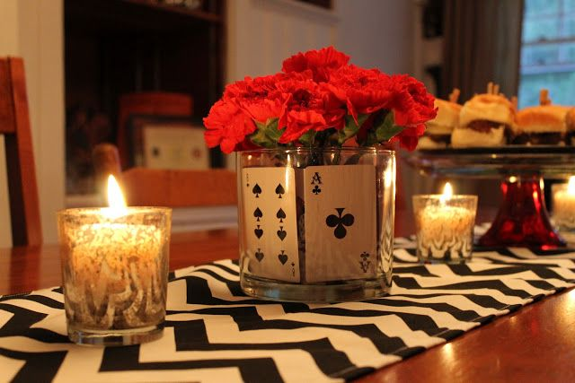 Game Night Decor | Game night | Pinterest | Glass vase, Game pieces and  Glasses