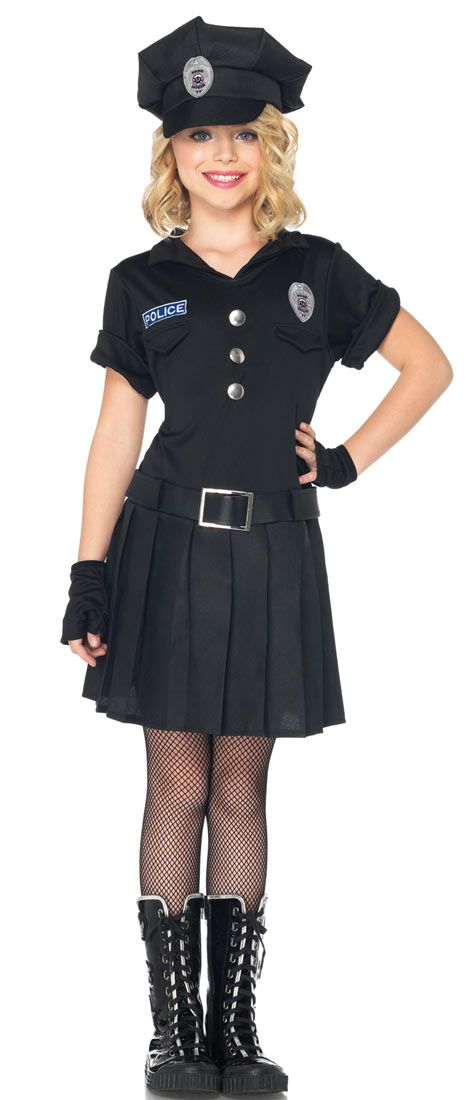 Girls Playtime Police Costume - Police Costumes