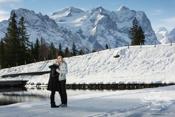Wedding photographer Switzerland | engagement on alps