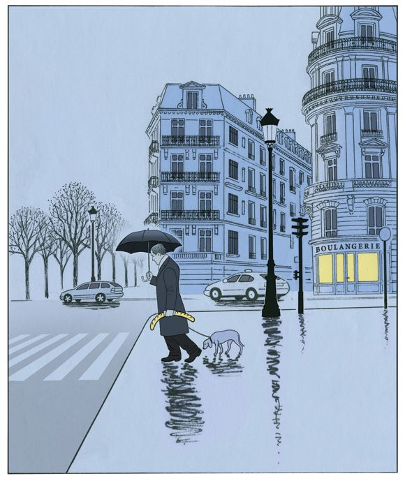 """Paris Blues"" by Guy Billout  April 2011"