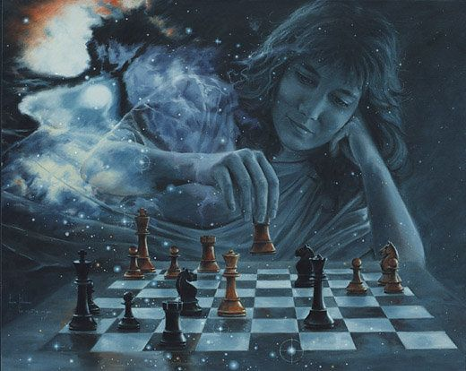 God And The Devil Playing Chess Paintings   www.pixshark ...