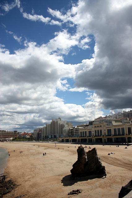 La plage de Biarritz, Pays Basque