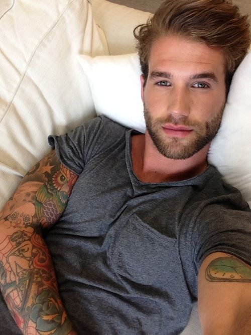 Hmmm. Idk if I'm pinning because of this face or the tat! Lol