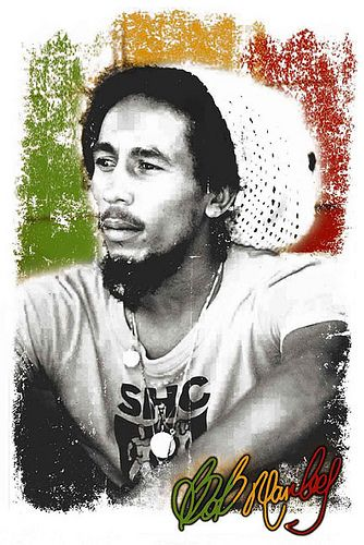 Bob Marley - Thriving on the Ital (vegan) diet. Rastafarians are roots people - if it didn't come form roots, they don't eat it.