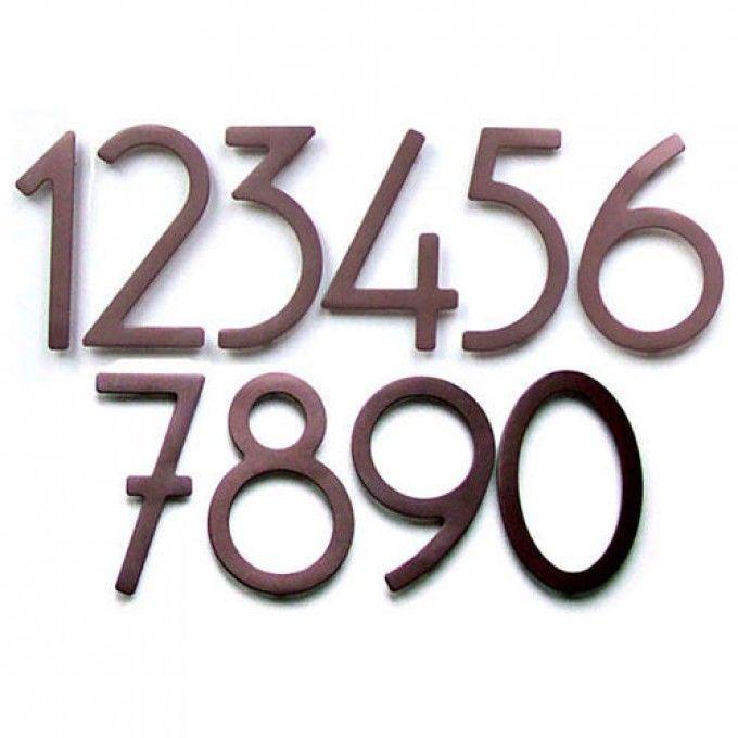 Dark Bronze Contemporary House Numbers