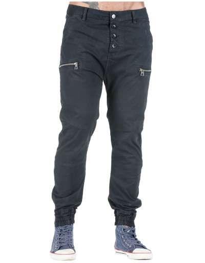 ΑΝΔΡΙΚΑ ΡΟΥΧΑ :: Παντελόνια :: Παντελόνι Drop Crotch 4 Buttons Black - OEM