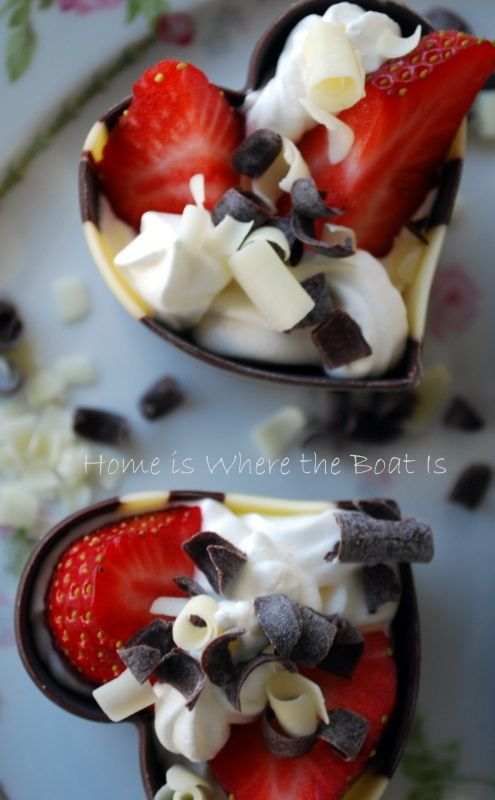 """Chocolate Cups in the shape of Hearts by Kane Candy.  From the Blog """"Home is Where The Boat Is"""" All 9 fantastic varieties can be found at www.KaneCandy.com or a quality retailer near you!  YUM!"""