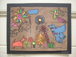 Geography for Kids: South America Amate Bark Paintings Art Lesson